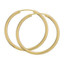 Creoler øreringe i 8 karat guld