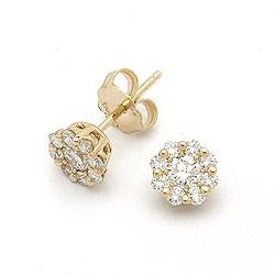 Diamant øreringe i 14 karat guld