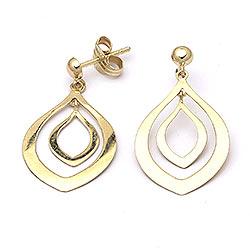 Flotte øreringe i guld