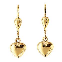 Lange guld øreringe, hængeøreringe Aagaard design