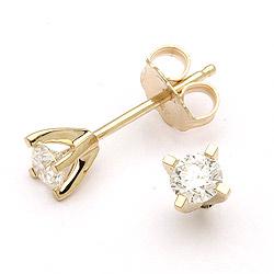 Ørestikker med diamant i 14 karat guld