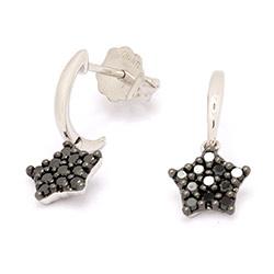 Ørestikker med sort diamant