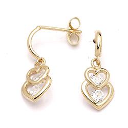Billige øreringe i 14 karat guld