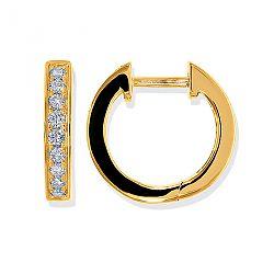 Diamant creoler i 14 karat guld