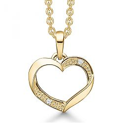 14 karat guld smykke med hjerte