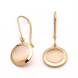 Runde øreringe i guld med krystaller